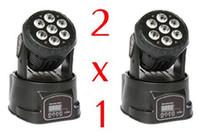 Wholesale 2pcs x12W RGBW in1 LED Moving Head Wash Light Led Stage Lighting DJ Club V Hz Sound Control Auto run Hot Sale