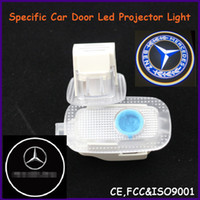 Cheap China Auto spare part, car door led shadow lights, logo laser projector light for Mercedes-Benz
