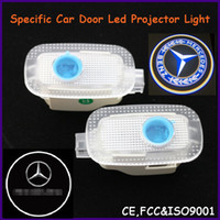 Cheap China Auto spare parts, car door led shadow lights, logo laser projector light for Mercedes-Benz