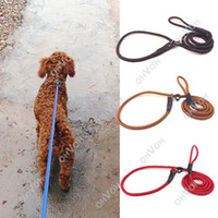 Wholesale S5Q Pet Dog Training leash With Adjustable Nylon P Leash Walking Lead Leading Collar AAACXC