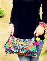 hmong - New Arrival Hmong Handmade Embroidered bags Fashion Vintage women shoulder messenger bags Ethnic small handbags
