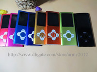 Wholesale 8GB GB quot LCD th gen Plum Button MP4 Mp3 Music Player With FM Radio Video ebook Records Games etc DHL Full set