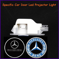 Cheap China Auto spare parts, car door led shadow lights, logo laser projector light for Mercedes