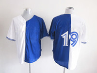 Wholesale 2014 Newest Toronto Blue Jay Jose Bautista Baseball Jersey Embroidered Mixture Split Blue White Fashion Jersey Hot Brand Sports Uniforms