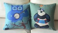 Wholesale Cute animals Cartoon pillow Cotton Linen Pillow Cover Cushion Cover
