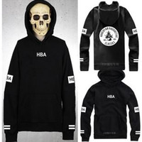 Wholesale hot sale HOOD BY AIR Outerwear hoodies pocket HBA hoody HBA fleeces RADIOACTIVE CLASSICS HBA hoodie clothing color