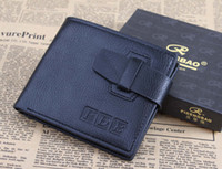 Wholesale Mens genuine leather wallet men leather card holder wallet coin pocket men bag clutch purse