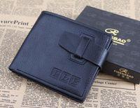 Wholesale Mens genuine leather wallet men leather credit card holder wallet coin pocket men fashion bags clutch purse