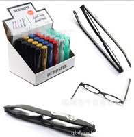 Wholesale Rotating reading glasses ultra light quality folding Plastic Tube Reading Glasses As Pen Pot Style Mixed Colors And Power Lens for Older s
