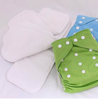 Wholesale 2014 New Hot Baby Absorbent Bamboo Cloth Diaper Inserts Baby Diaper Cloth Diapers Liners One Size B2840