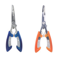 Wholesale 6 quot Stainless Steel Fishing Pliers Curved Nose Scissors Line Cutter Remove fish Hook Tackle Tool H9494