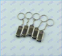 Wholesale 50pcs DHL GB Swivel metal Key Chain Custom USB Flash Memory Pen Drives Sticks Disks Pendrives GB USB