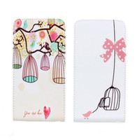 Cheap New Birdcage Tree Bowknot Pattern PU Leather Flip Cover Case For Samsung Galaxy Note 3 III N9000 N9006