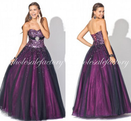 Wholesale 2014 Quinceanera Dresses Sexy Sweetheart Bling Bling Sequins Beaded Crystal Lace Up Back Tulle Graduation Dresses BL5127