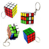rubik's cube - Factory directly sales Keychain Rubik s cube x3x3cm Puzzle Magic Game Toy Key Keychain