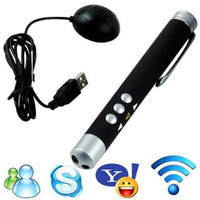 Wholesale S5Q USB Wireless Remote Control Red Laser Powerpoint Presentation Pointer Pen AAAAHY