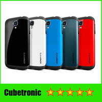 TPU+PC spigen - Promotion SPIGEN SGP Armor Hard Cover Case for Samsung Galaxy S4 SIV i9500 with without Retail Package DHL