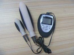 Wholesale Electropulsing Impulsion Shock Penis Ring Enlargement Delay Trainer Practice Device Massager Men Sex Toys L