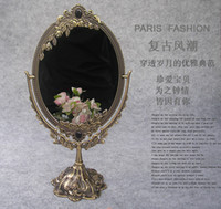 Wholesale H Classical style faux bronze degree rotate cosmetic mirror make up mirror for desktop dresser counter Size L B012