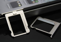 Wholesale Stainless Steel Replacement Micro Sim Card Tray Slot for iPhone s CDMA Silver Best Quality Factory Offer