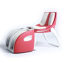 vibration massage foot chair - RCG Mini Clamshell Leg Shape up Massage Chair Heated Foot Massage Electric Machine Device Calf Health Care Seat