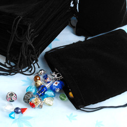 Drop Shipping Wholesale 100pcs 12*10Cm Black Velvet Gift Drawstring Jewelry Pouches,Bags Fashion Wedding Christmas Party Gift Bags Hot Sale