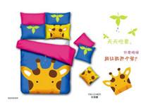 Cheap Giraffe deer bedding comforter set queen king size duvet cover quilt bed linen sheet bedspread bedclothes bedsheet cartoon kids