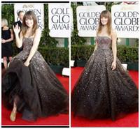 Olivia Wilde bling ball gown evening dresses In Golden Globe...