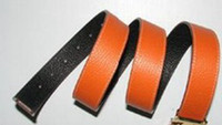 Wholesale Golden H Head Buckle Leather Belt For Men Candy Colors Belt Women s Men s Buckle Waistband