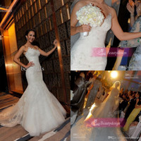 2014 Sexy CoCo Lee lace beads mermaid wedding dresses Ivory ...