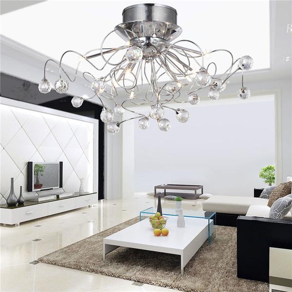 Cristallo moderno led lampadario da soffitto a luce le lampade di ...