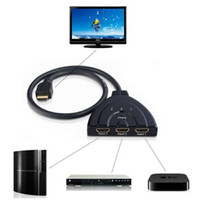 Wholesale 3 Port P HDMI AUTO Switch Splitter Switcher HUB Box Cable LCD HDTV