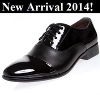Men Oxfords Spring and Fall 2014 New Mens Famous Slip Up Sneakers Oxfords Soft Patent Leather Confortable Male Casual Business Dress Wedding Shoes For Men Flats 38-44