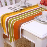 cotton table runner - fashion rustic cotton table runner placemat cadiz orange color
