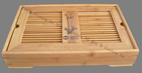 Other Household Sundries Yunnan China (Mainland) Big Tea tray Tea board Tea table * Bamboo Gongfu Tea Serving Tray Natural color Big ones 40*28*7