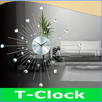 Mechanical Wall Clocks Yes Free Shipping Large 69cm Diameter Crystal Decorative Needle Wall Clock for Living Room Dining Room,Taiwan Sun Brand Movement
