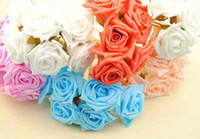 Wedding   Fashion New 5 colors foam rose flower handmade DIY wedding home decoration artificial flower
