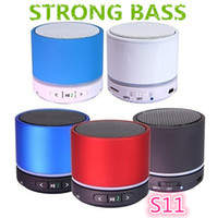 Wholesale S11 Bluetooth wireless speaker Portable Hi Fi Player Bluetooth Mini Speakers With BOX FREE DHL A