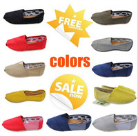Free shipping Mix color Women's classic flats canvas shoes 2...