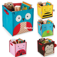 Wholesale Kid s Children s Baby toys storage box Animal storage bag folding canvas Organizer Case for toys