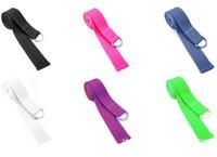 yoga belt belt webbing wholesale - 10pcs Yoga Rope Stretch Belt Gym Exercise Webbing Workout Fitness Strape Fashion