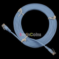 Wholesale New FT M CAT6 CAT Flat UTP Ethernet Network Cable RJ45 Patch LAN Cord