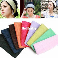 Wholesale Candy color sports yoga head protection wide ribbon headband toweled general cm