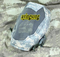 Wholesale NEW ACU Face Metal Mesh Protective Mask Airsoft Paintball Resistant Skull