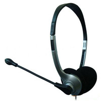 Wholesale Computer Headphone Microphone Headset for PC Skype MSN over the head design