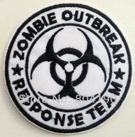 al por mayor zombi del punk-Los niños de la TV de la película del equipo de la respuesta del brote del zombi bordaron el hierro de la INSIGNIA en el remiendo La puntada modificada para requisitos particulares Rockabilly punky de Emo Goth disponible