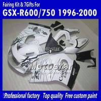 Precio de Suzuki gsxr750 fairing-100% NUEVO +7 Gfits Personalizada blanco brillante Corona SRAD carenados UU49 PARA 1996 1997 1998 1999 2000 suzuki GSXR600 GSXR750 GSXR 600 750 96 97 98 99