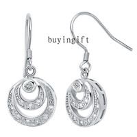 Wholesale Fashion Trend charms silver earrings Beautiful Moon Jewelry Exquisite Shiny Swarovski Elements crystal holiday gifts R357