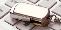 Bon Marché Oem flash usb-Livraison gratuite DHL 128Go 256Go 64GB Swivel Memory Stick Flash Drive Stockage USB 2.0 Couleur Argent LOGO clé personnalisée Anneau OEM 1 jour d'acheminement