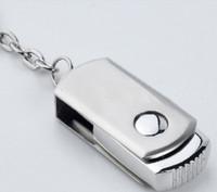 DHL 256 Go 128 Go 64 Go USB 2.0 Stylet Flash Drive Pen Memory Stick Métal Chrome Avec Porte-clés Porte-clés OEM LOGO 12 mois de garantie